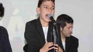 Adrián Martín durante la presentación de su disco /Gtres