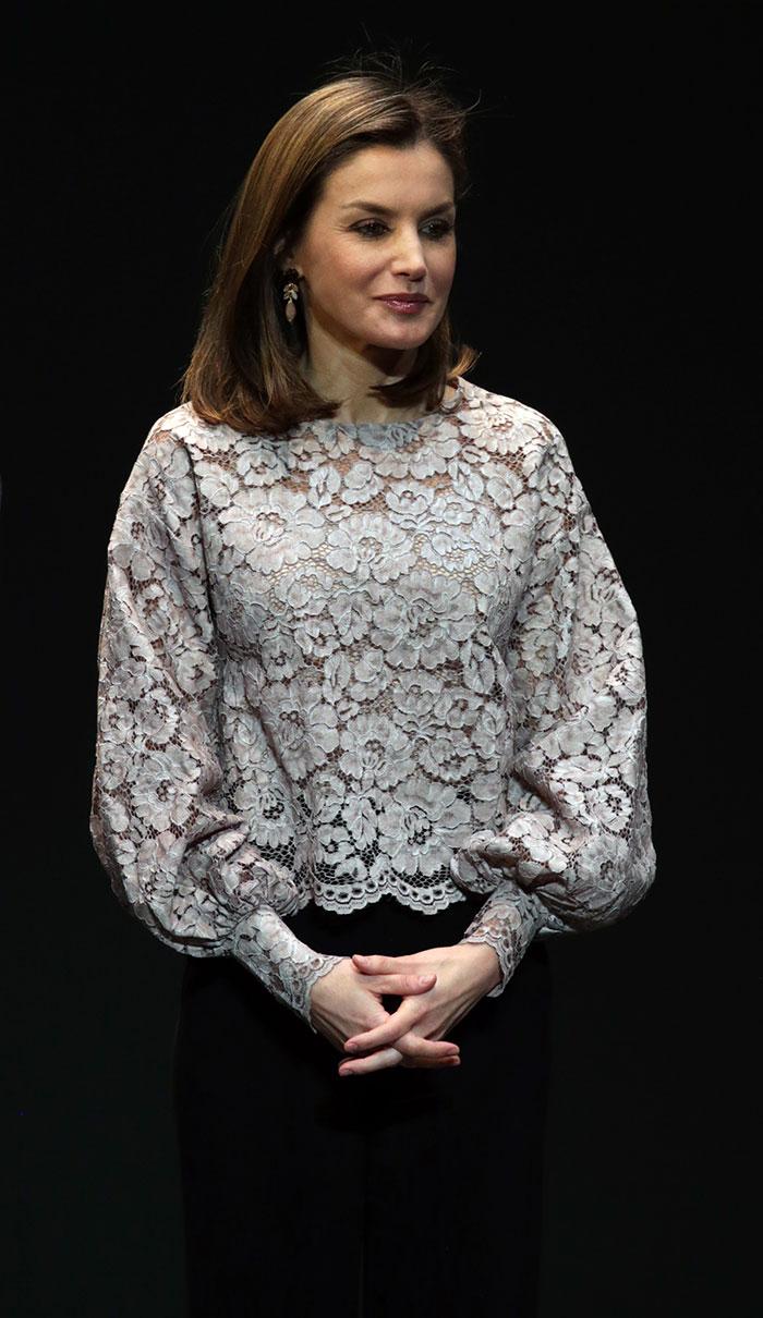 La Reina durante la entrega de los Premios Nacionales de Innovación y Diseño / Gtres