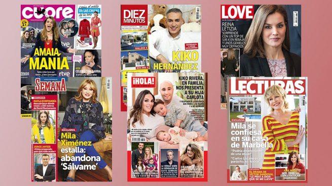 Las confesiones de Mila Ximénez, el nuevo look de Letizia y las primeras imágenes de Carlota Rivera en las portadas de la semana