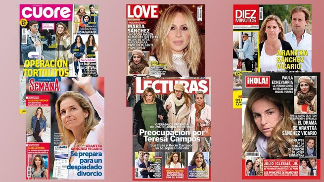 El drama de Arantxa Sánchez Vicario, el ingreso de María Teresa Campos y el anuncio de boda de Pelayo Díaz, protagonistas de las portadas de la semana