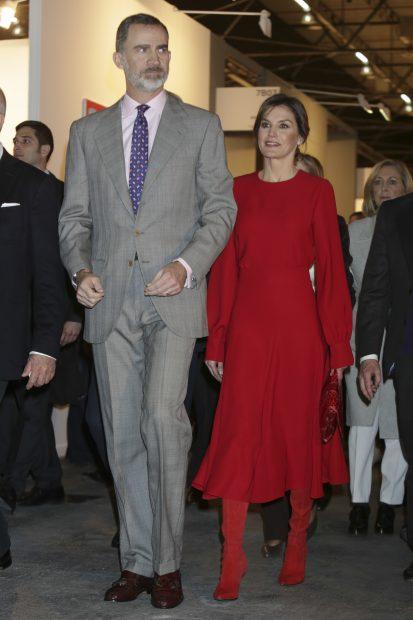 Doña Letizia con el Rey / Gtres