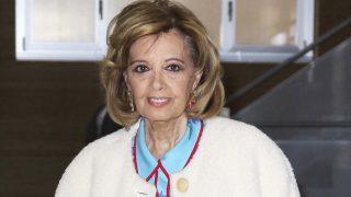 María Teresa Campos tras recibir el alta hospitalaria este sábado /Gtres