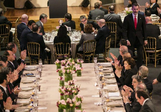 Detalle de la mesa presidencial / Gtres