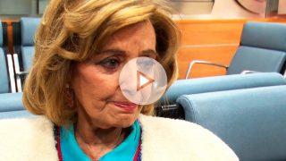 María Teresa Campos se emociona al recibir el alta hospitalaria / Gtres