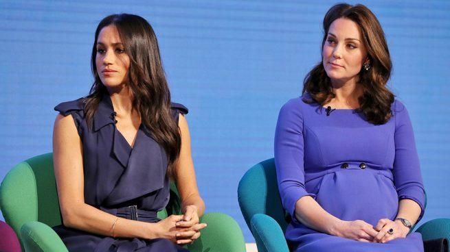 Kate Middleton y Meghan Markle, dos princesas de azul en su primer acto conjunto