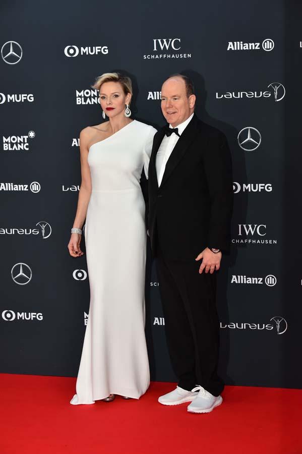 Premios Laureus 2018 Princesa Charlene y Príncipe Alberto de Mónaco