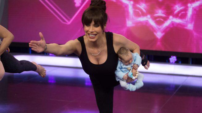 pilar rubio embarazada clase yoga bebe
