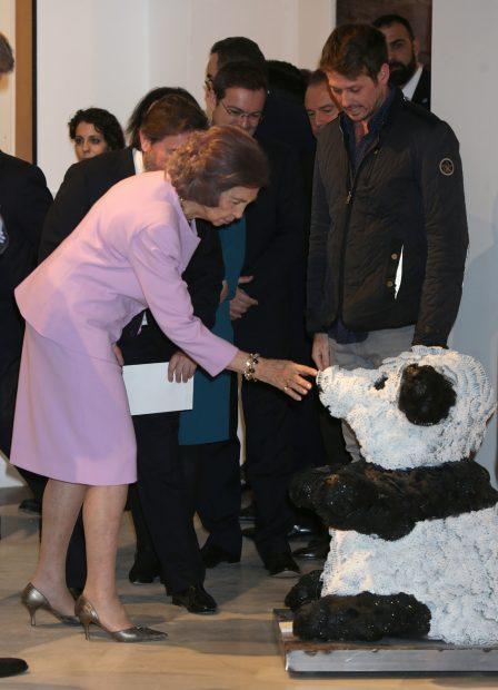 La reina Sofía con el panda / Gtres