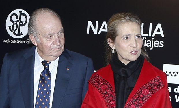 Don Juan Carlos y su hija la infanta doña Elena / Gtres