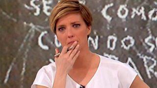 María Casado rompe a llorar durante la entrevista con los padres de Gabriel / Gtres