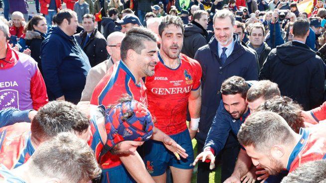 El rey Felipe hace la ola y se convierte en un 'león' más de la selección de rugby