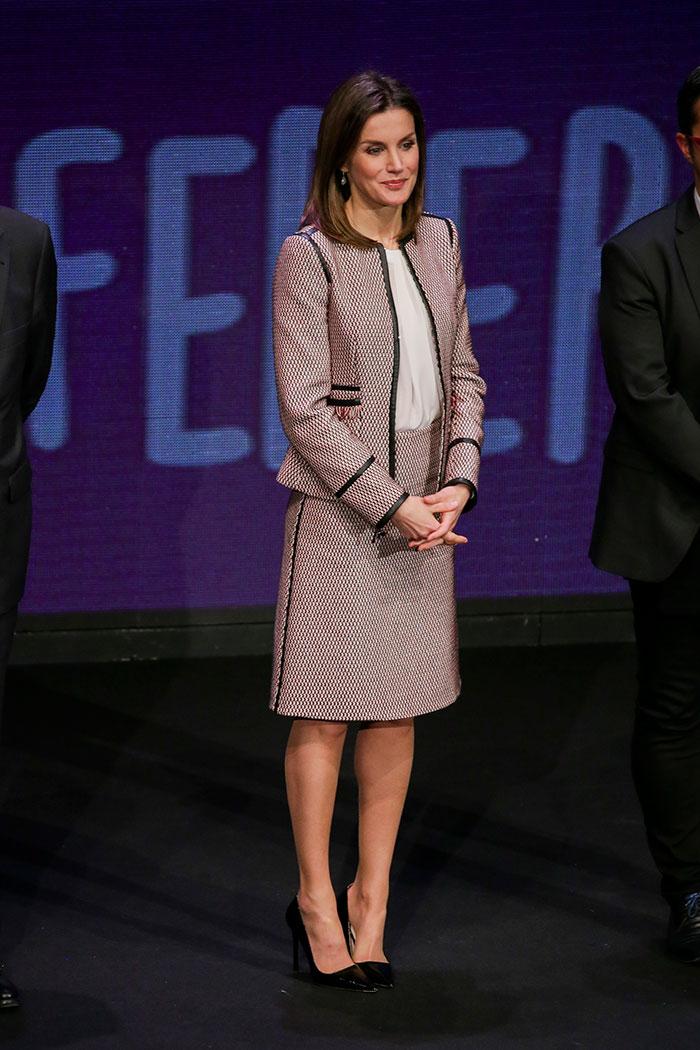 La reina Letizia en el acto oficial del 'Día Mundial de las Enfermedades Raras' 2018 / Gtres