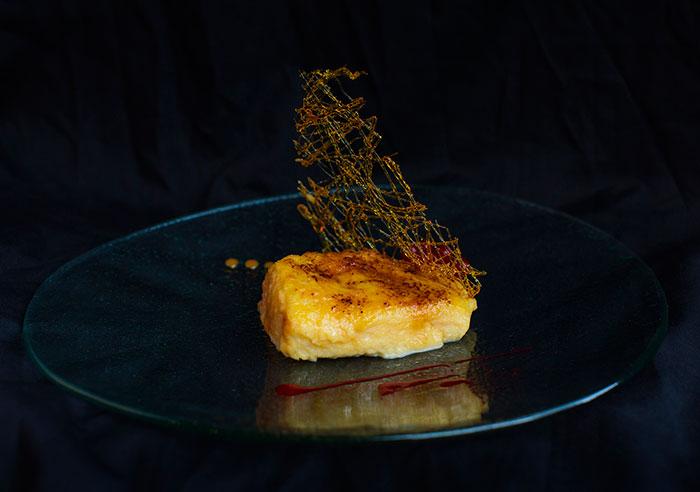 torrija del restaurante haches de madrid