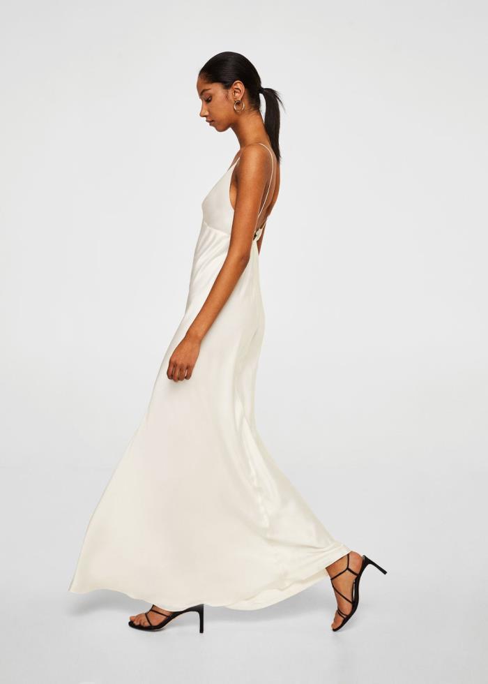 clon mango del vestido de novia de alessandra de osma