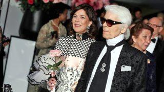 Carolina de Mónaco y Karl Lagerfeld / Gtres