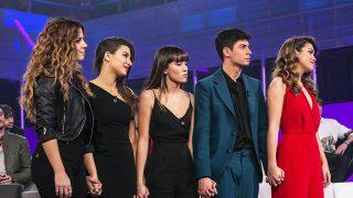 Los cinco finalistas de Operación Triunfo./ Gtres