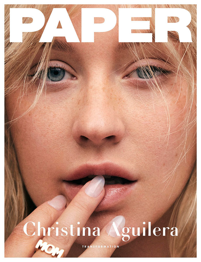 Portada Paper con Christina Aguilera / Paper Magazine