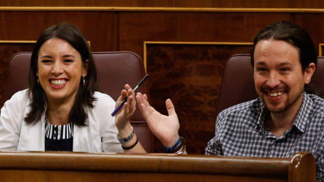 Pablo Iglesias and Irene Montero