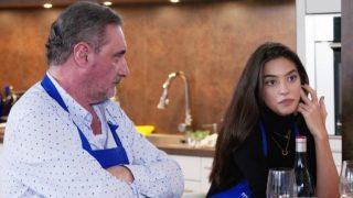 Rocío Crusset y Carlos Herrera durante la grabación de 'Mi casa es la tuya' /Telecinco