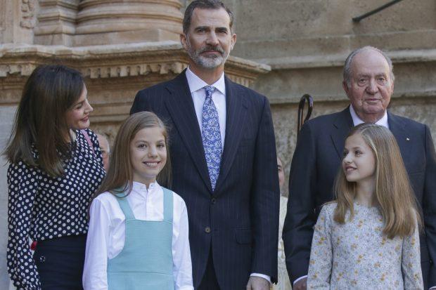 La Familia Real a la entrada de la Seo de Palma / Gtres
