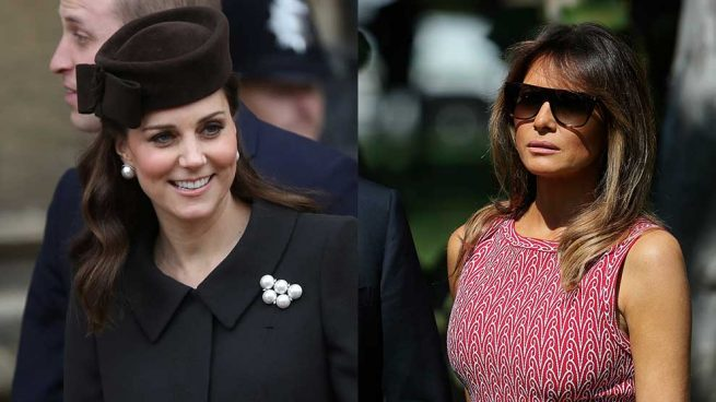 Melania Trump Kate Middleton Domingo Pascua
