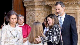 Las imágenes de la familia real en la misa de Pascua de 2018 han terminado dando la vuelta al mundo / Gtres
