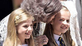 La reina doña Sofía con sus nietas / Gtres
