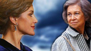 Las reinas Letizia y Sofía en un fotomontaje de LOOK