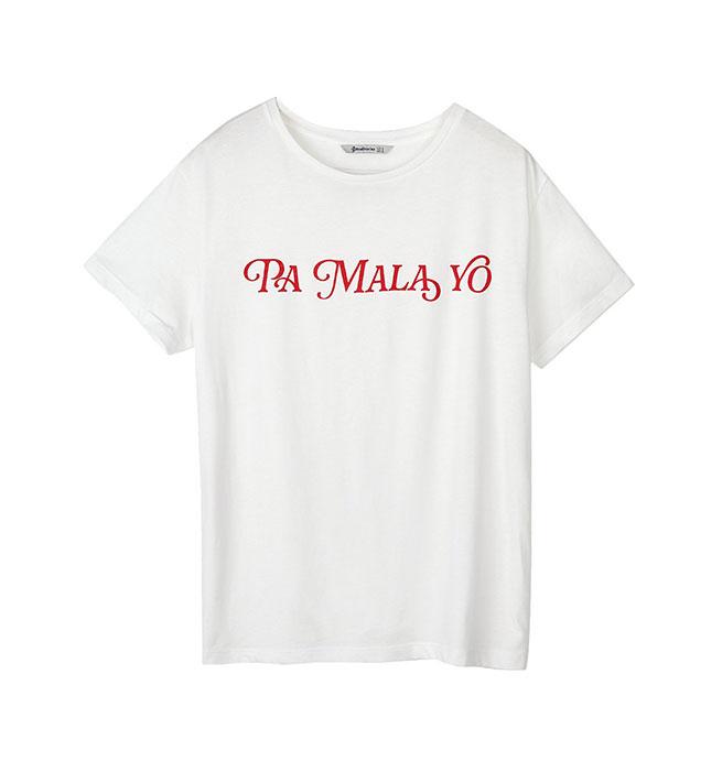 camiseta lo malo stradivarius