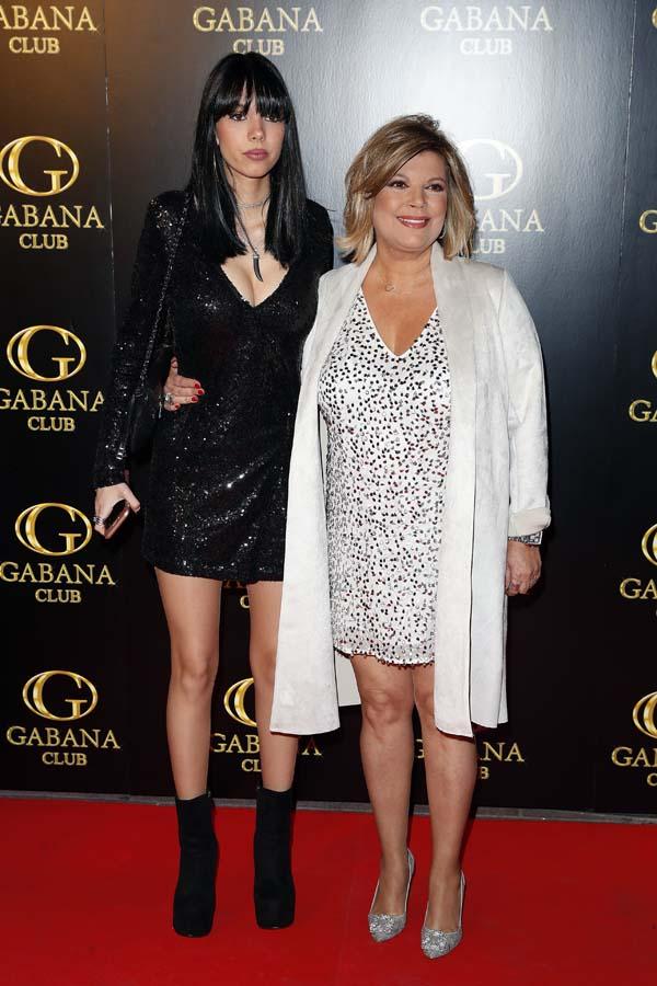 Alejandra Rubio con su madre la presentadora Terelu Campos durante su fiesta de cumpleaños en Madrid. 05/04/2018