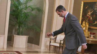 El rey Felipe durante unas audiencias en la Zarzuela / Gtres