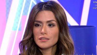 Miriam Saavedra durante una entrevista en 'Sábado Deluxe' /Mediaset