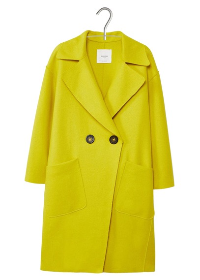abrigo amarillo Mango Soraya