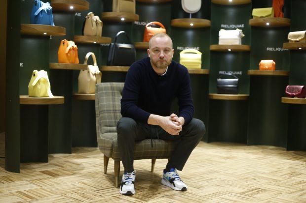 Héctor Jareño en la nueva flagship store de Madrid / Gtres