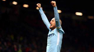 David Silva, celebrando un gol con el City / Gtres