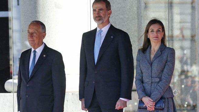 Los Reyes se reencuentran con Rebelo de Sousa en Madrid