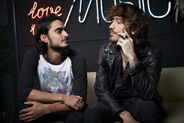 Los cantantes Adrián Roma y Juan Fernández del grupo Marlon