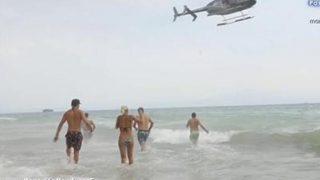 El helicóptero llegando la isla de 'Supervivientes 2018' / Mediaset