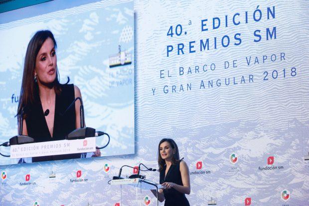 Doña Letizia durante su discurso / Casa Real