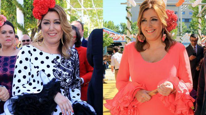 Susana Díaz muy favorecida con vestido de flamenca   Gtres df5192bc30e