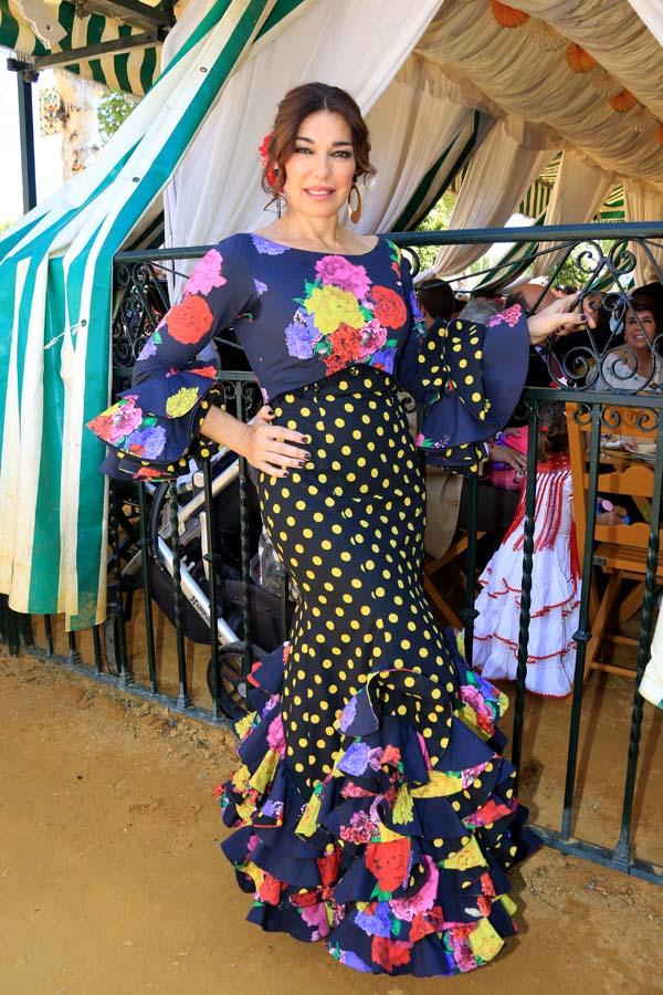 Raquel Revuelta en la Feria de Abril 2018