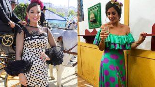 Las últimas tendencias se han colado en la moda flamenca./ Gtres