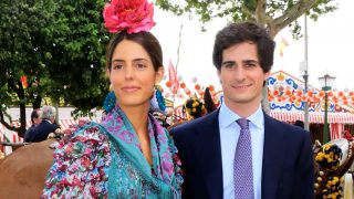 El Duque de Huéscar y Sofía Palazuelo durante este viernes /Gtres