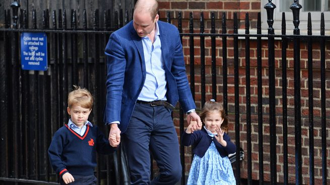 Los príncipes George y Charlotte ya conocen a su nuevo hermano
