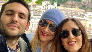 Cristina Cifuentes junto a sus hijos /Instagram