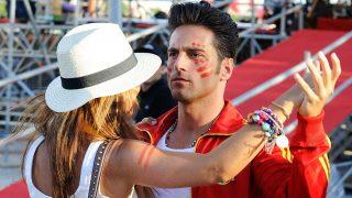 Bustamante y Paula Echevarría en 2010, cuando bailaban juntos / Gtres
