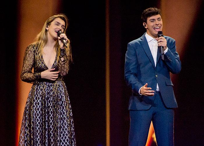 Amaia de OT le copia el vestido a Eugenia Martínez de Irujo en Eurovisión