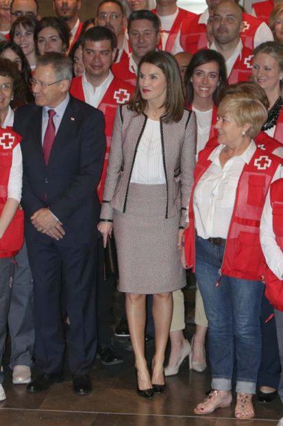 El guiño de doña Letizia en el Día Mundial de la Cruz Roja