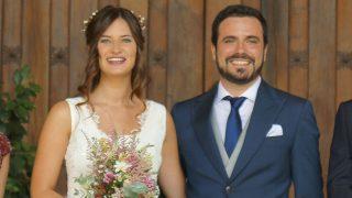Alberto Garzón y Anna Ruiz el día de su boda (Gtres)