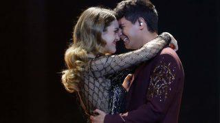 Amaia y Alfred durante la actuación de Eurovisión /Gtres